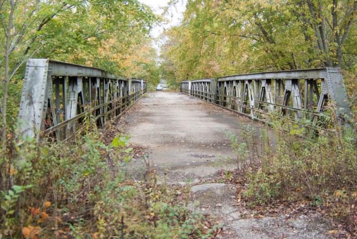 Abandoned bridge on Old SR 37