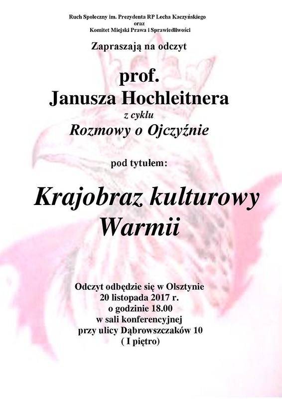 plakat - 20 XI 17 r odczyt prof.Janusza Hochleitnera-page-001
