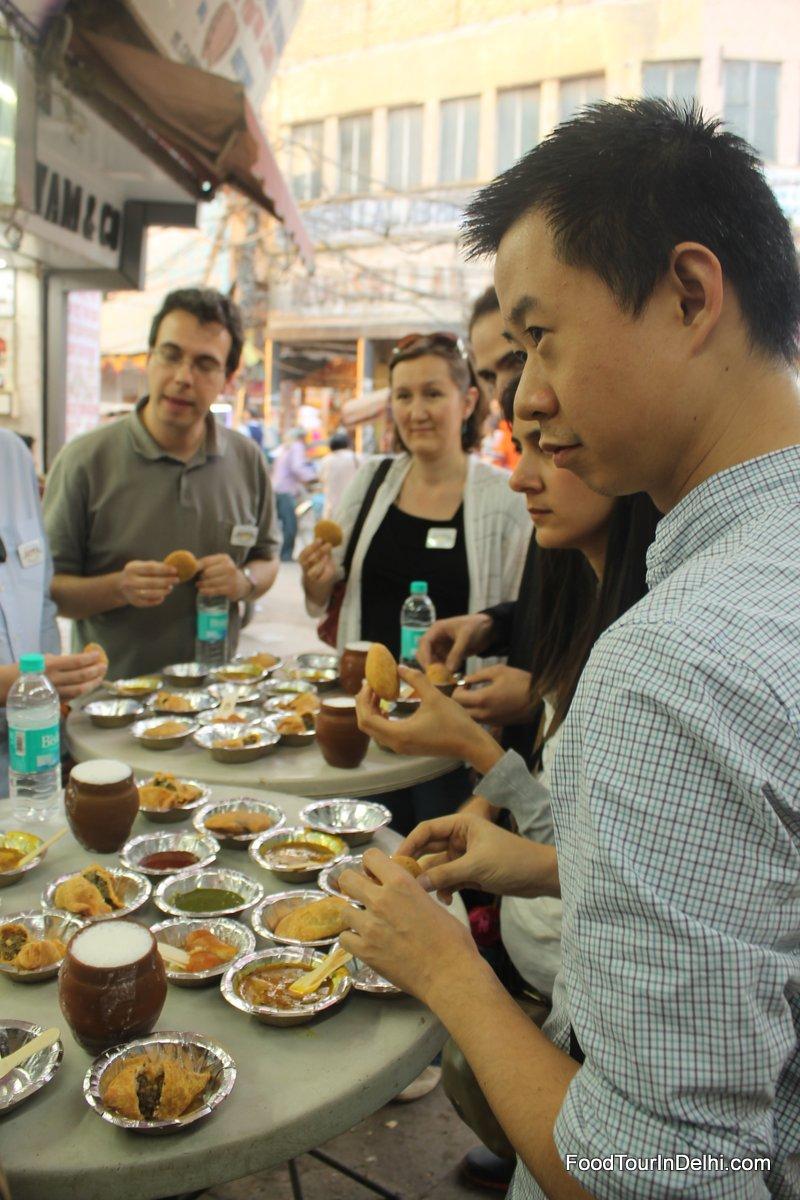 Food tasting in Old Delhi