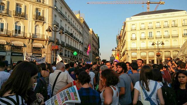Manifestación en Sol