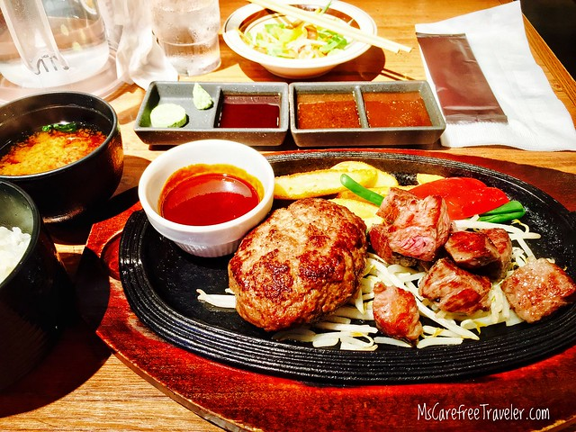 Meat Yazawa Hamburger Steak & Steak Combo