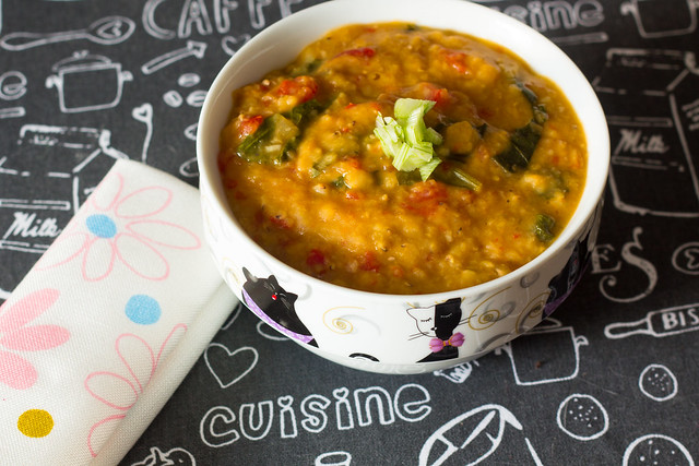 Curry de lentejas rojas