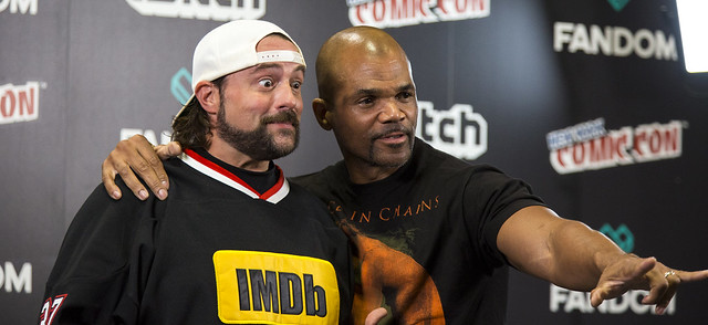 Kevin Smith and Darryl DMC McDaniels