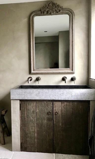 Badkamer beton cire waaltjes