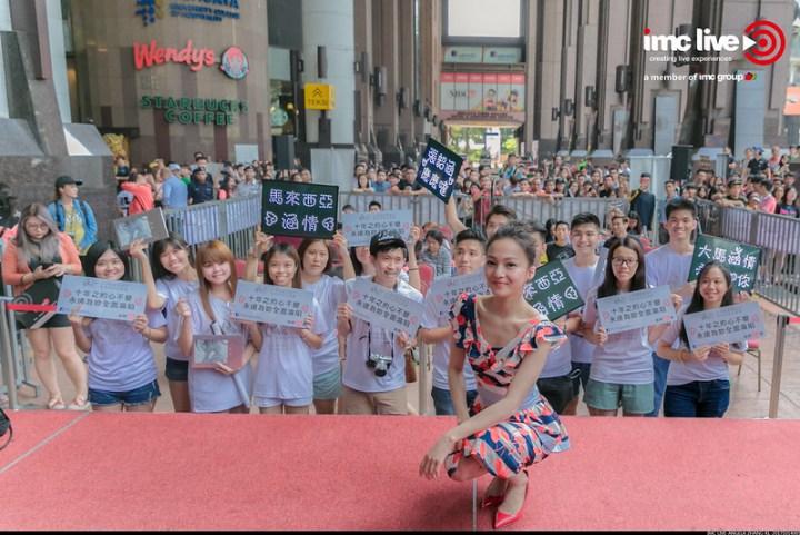 Photos Angela Zhang's Promo Tour At Berjaya Times Square