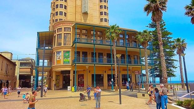Adelaide seaside suburb Glenelg beach