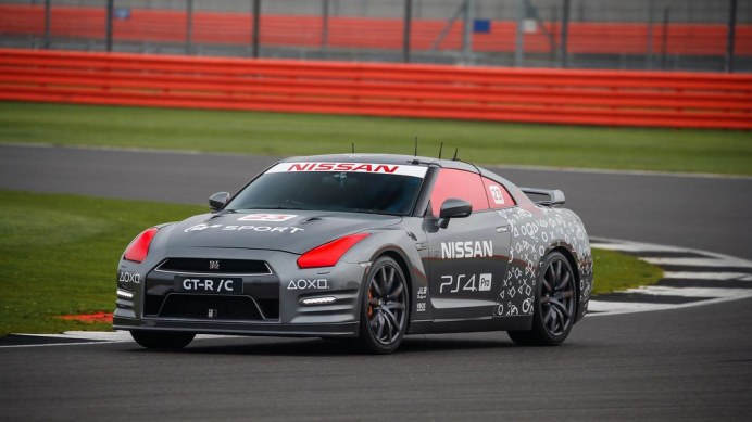 Nissan GT-R, operated remotely by a gaming controller, tops 130