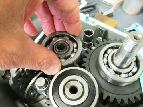 Placing Shims on Output Shaft