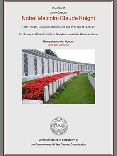 Commonwealth War Graves Commission - commemorating those with a Downland connection
