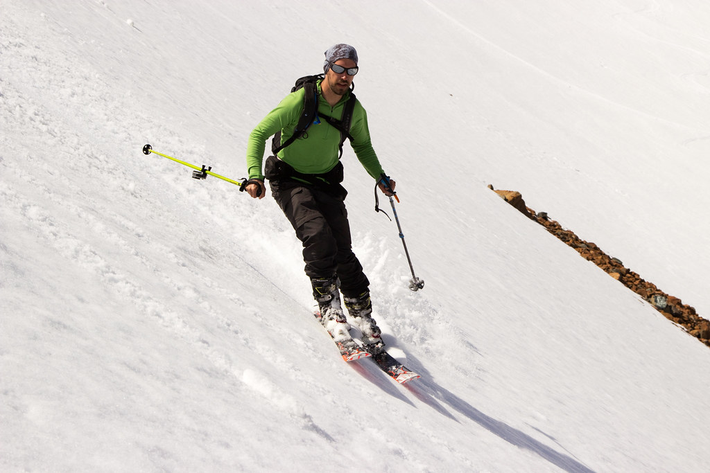 Andy skiing Ingalls Basin