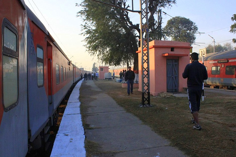 A train station in rural Rajasthan