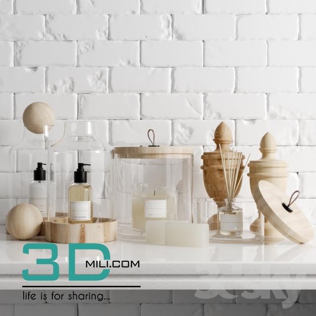 04 zara bathroom set set bathroom 3d mili download 3d for Park designs bathroom accessories