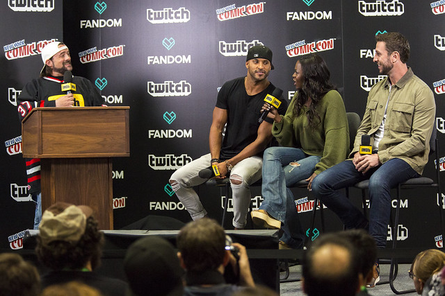 Kevin Smith, Ricky Whittle, Yetide Badaki, and Pablo Schreiber