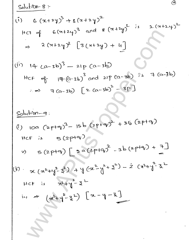 ML Aggarwal ICSE Solutions for Class 9 Maths Chapter 4