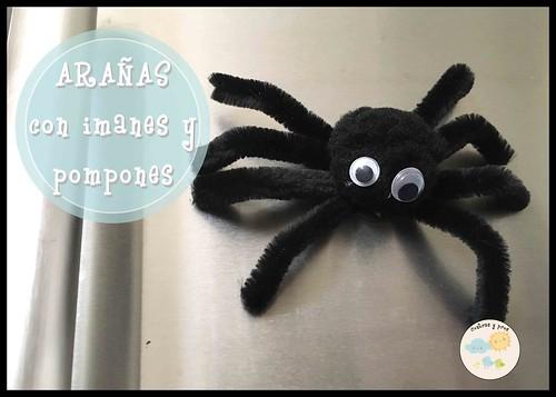 Arañas con imanes y pompones