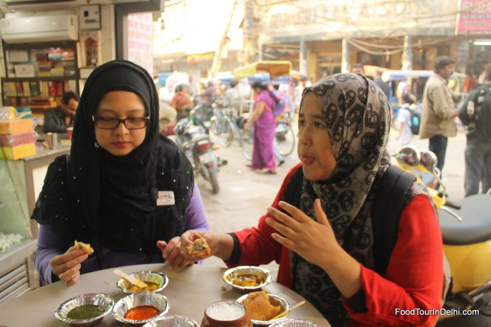 Traditional street food in Old Delhi