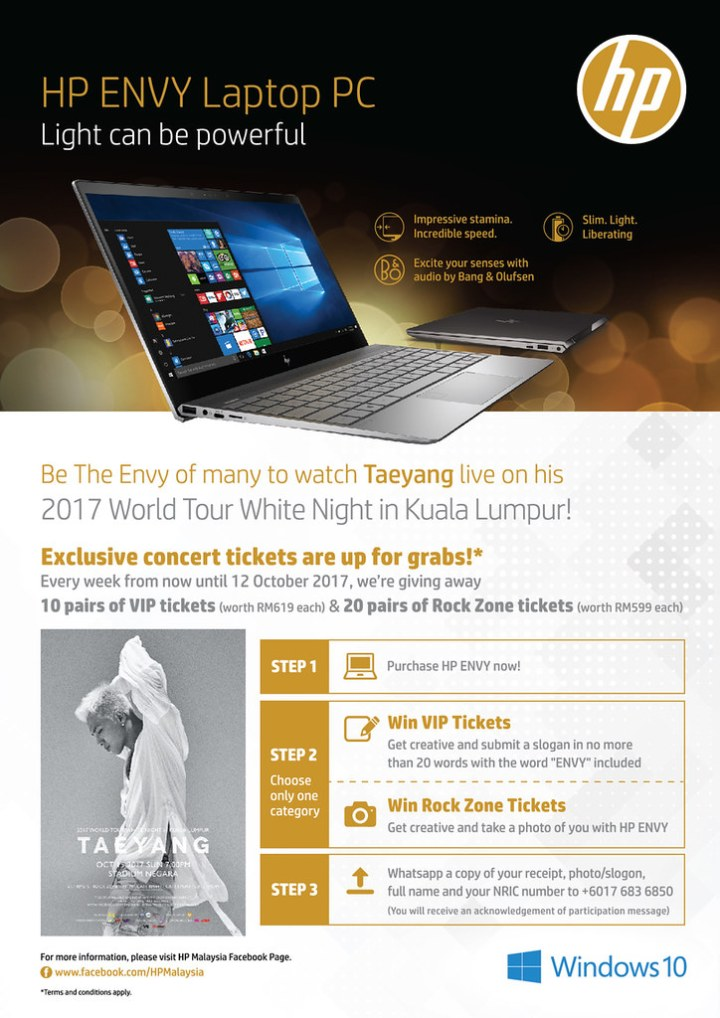 Be The Envy With The New HP ENVY 13 & Catch Taeyang LIVE