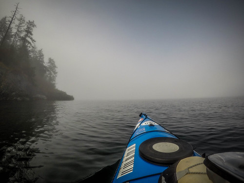 Samish Island Paddling in Fog-11