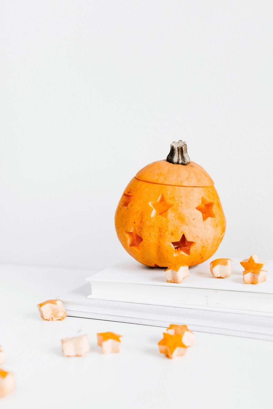 Halloween DIY, pumpa med stjärnor