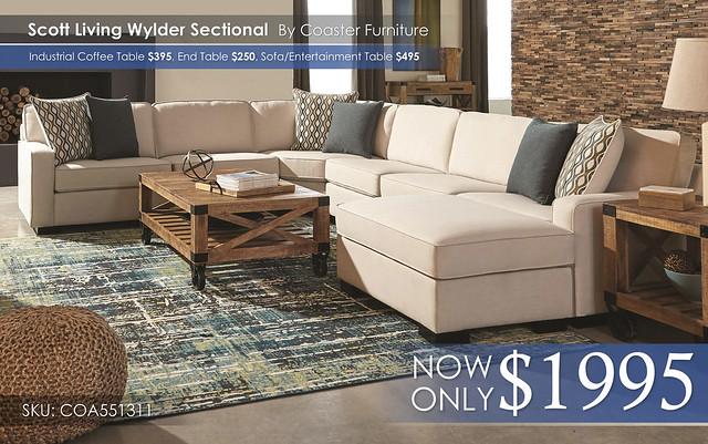 Scott Wylder Sectional by Coaster COA551311