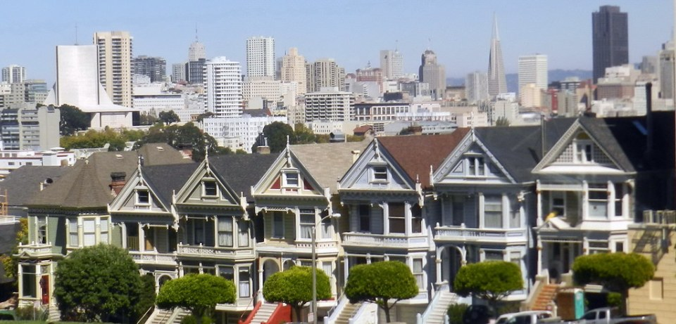 Casas victorianas Painted Ladies de San Francisco California EEUU