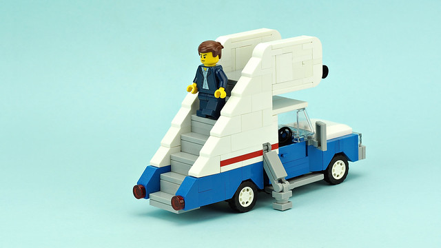 Aircraft boarding stairs truck
