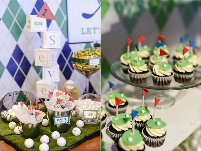 golf party sweets