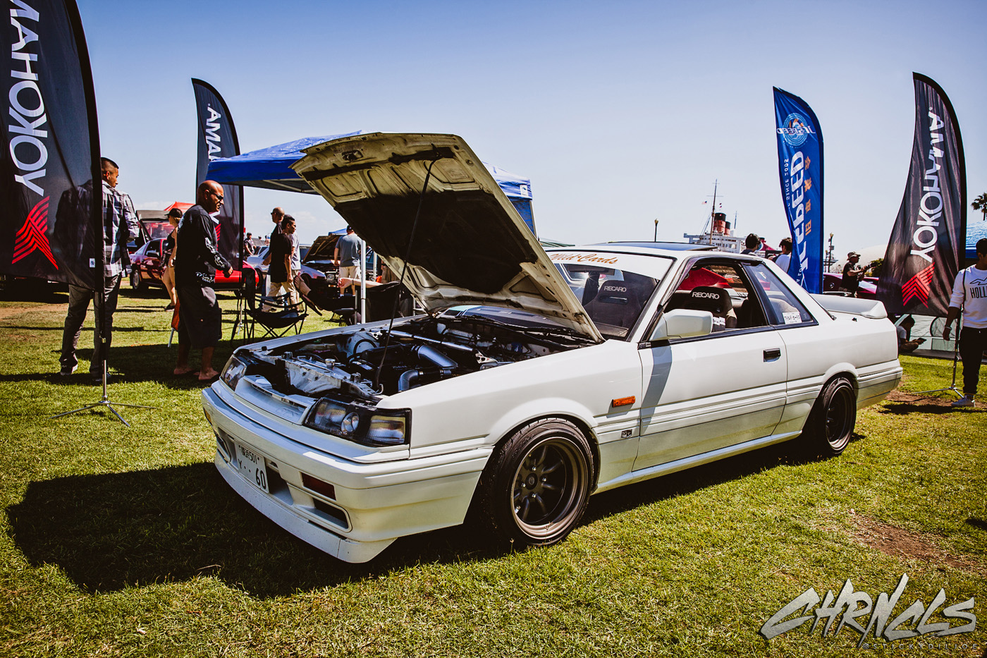 one of the newest wild cards members is this r30 skyline gts coupe on watanabe wheelsu2026