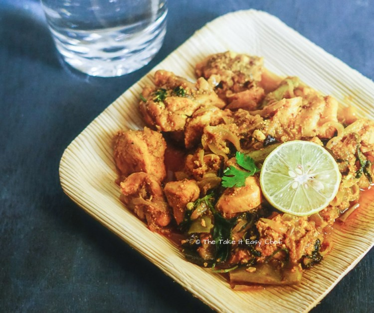 Andhra style chilli chicken is read