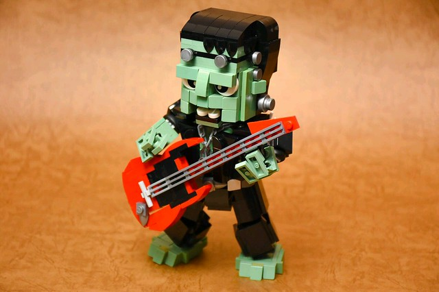 Halloween MOC: The Night of Frankenstein Rock and Roll!! The concept came from the halloween mini Frankenstein figure.
