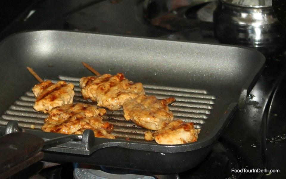 Cooking tikkas