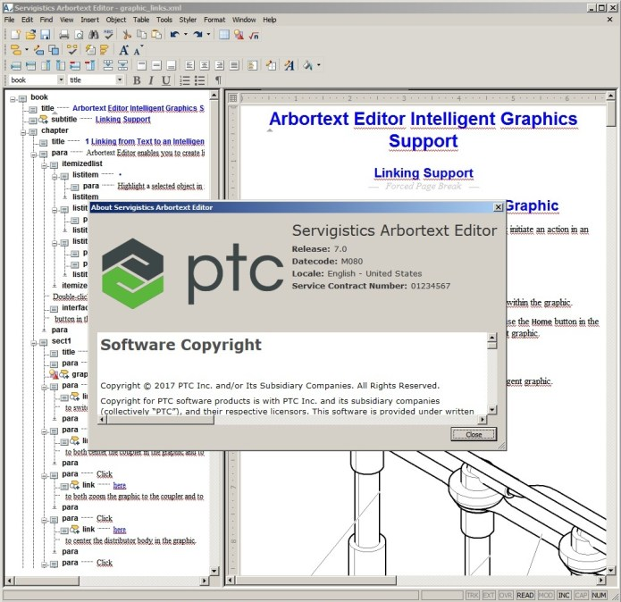 Working with PTC Arbortext Editor 7.0 M080 full license