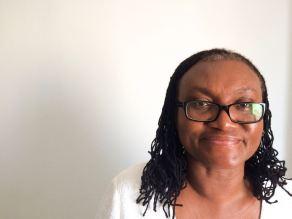 La profesora de la Universidade de Gana, Dzodzi Tsikata. Foto: Rute Pina/Brasil de Fato
