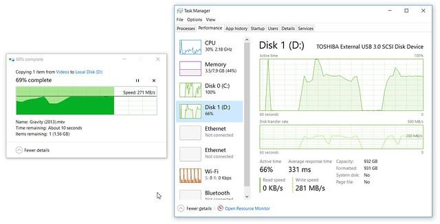 ลองก็อปปี้ไฟล์ 5GB ด้วย WD 3D NAND SATA SSD