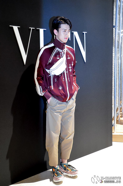 Oh Sehun of EXO at VLTN Pop-up Store Opening in Hong Kong