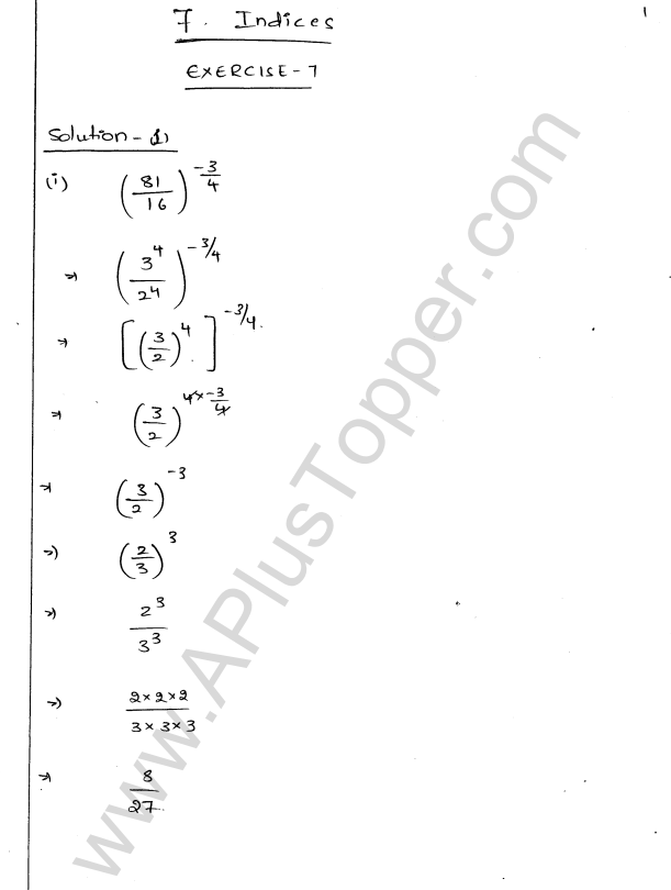 ML Aggarwal ICSE Solutions for Class 9 Maths Chapter 7