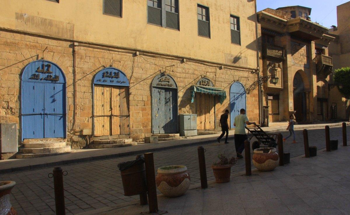 The commercial complex surrounding the khan el khalili market