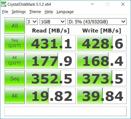 ความเร็วในการเขียนอ่านของ WD SSD แบบเดิม
