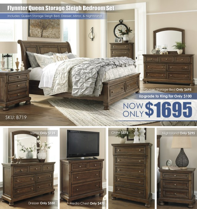 Flynnter Queen Storage Bedroom Set B719 Collage