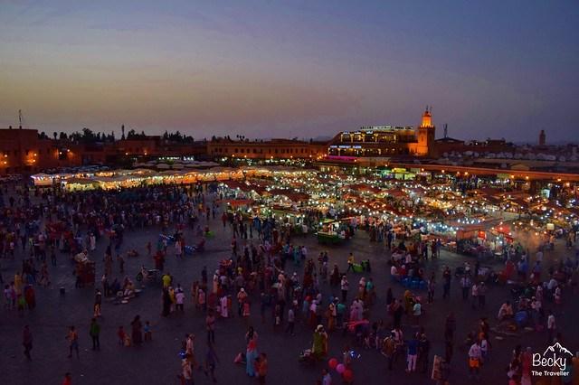 Marrakesh/Marrakech Guide - Marrakesh by night - Jemaa el Fna Square - Morocco