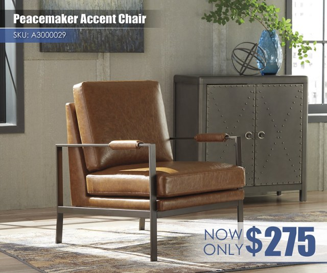 A3000029 - Peacemaker Accent Chair $275