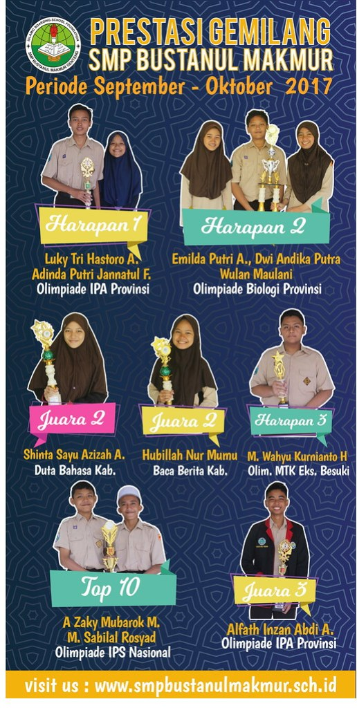 Prestasi Siswa SMP Bustanul Makmur 2017