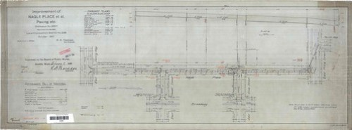 Nagle Place Paving Plan, 1909