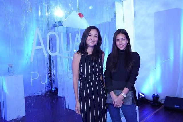 Kelly and Mikaela at Aquafina launch