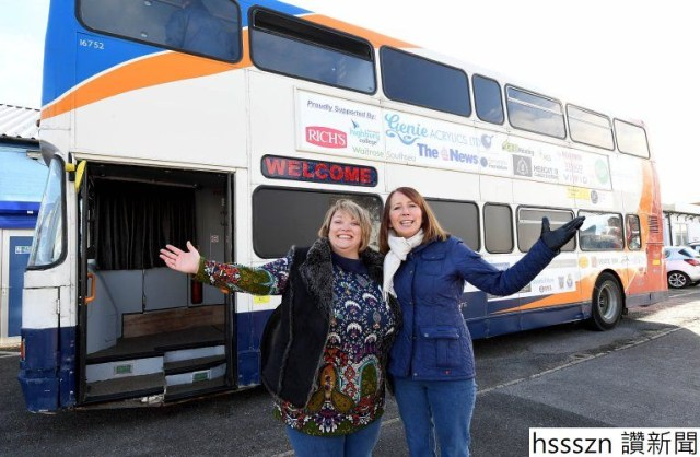 New Homeless shelter - a converted double decker bus.