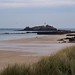 Gwithian Dunes and Godrevy Lighthouse, Cornwall