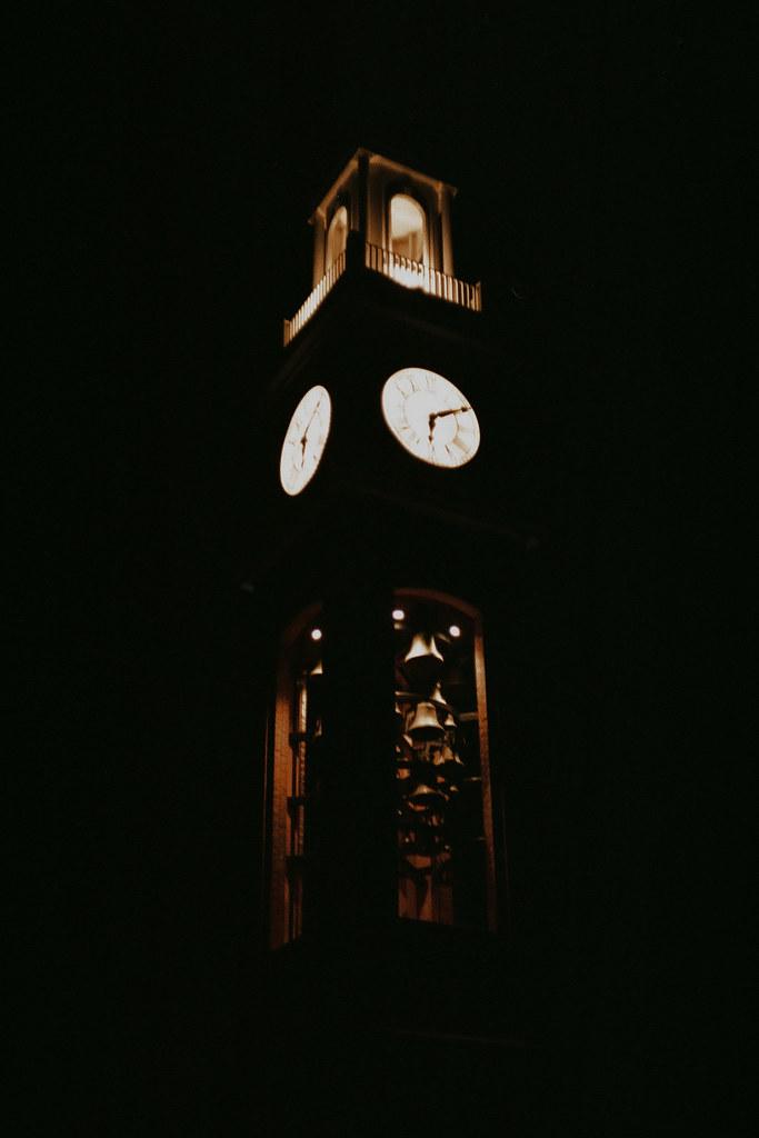 Clock at dark
