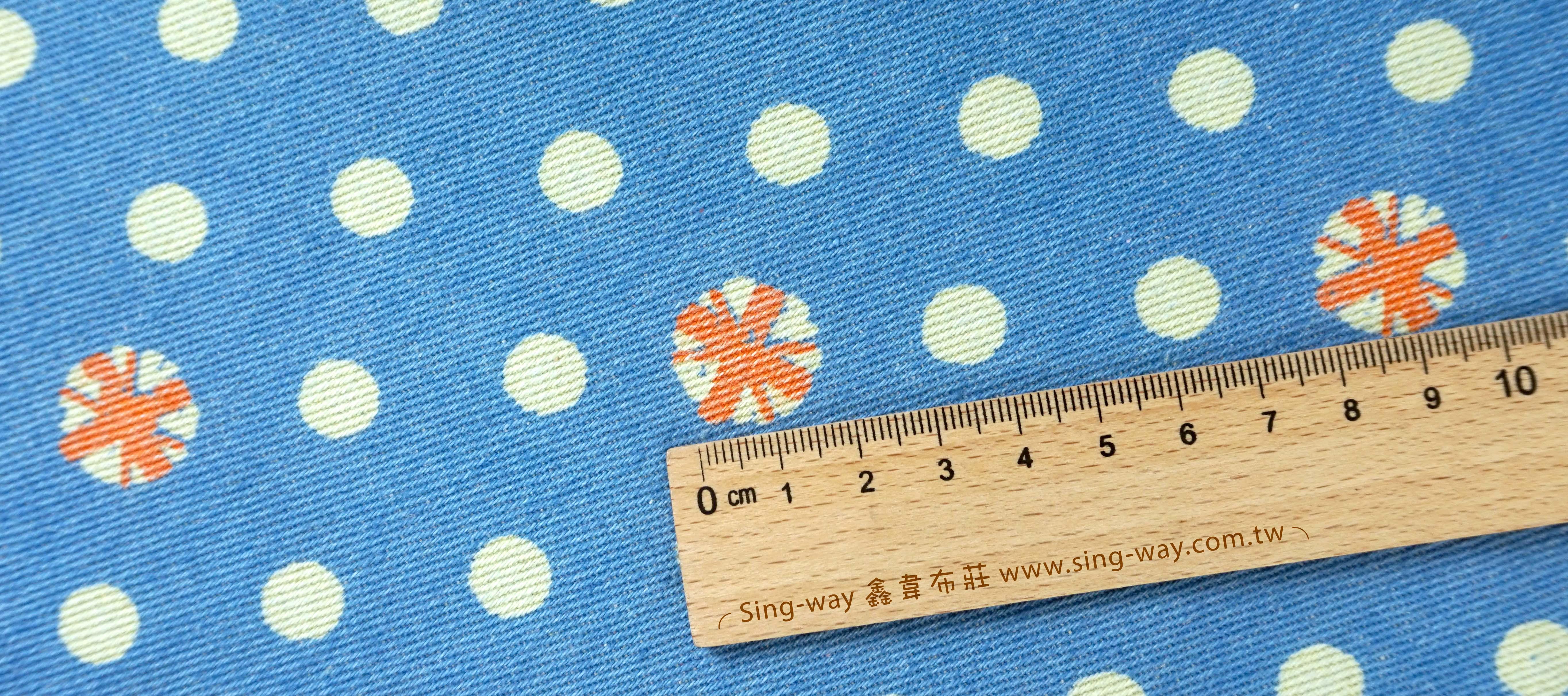 點點 圓圈 變化圓形 圓圈圈 水玉 牛仔服裝布料 手工藝DIy拼布布料 CE1390003