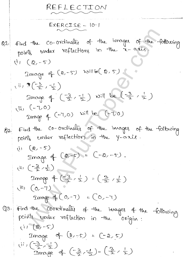 ML Aggarwal ICSE Solutions for Class 10 Maths Chapter 10 Reflection