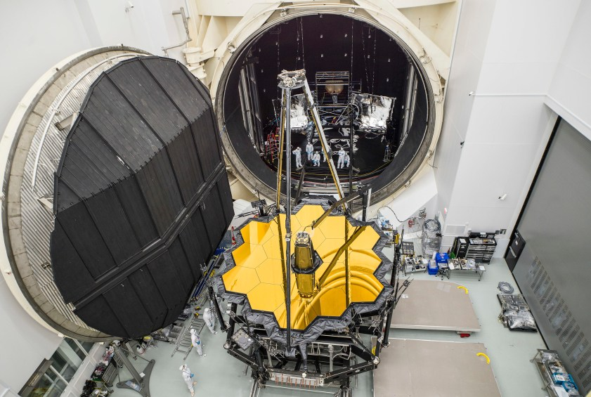 Webb Telescope Emerges from Chamber A After Cryogenic Testing